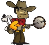 Johhny Revolver and banjo